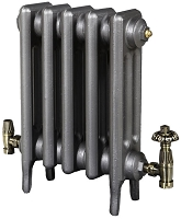 Eastgate Victoriana 3 Column 5 Section Cast Iron Radiator 645mm High x 336mm Wide - Metallic Finish